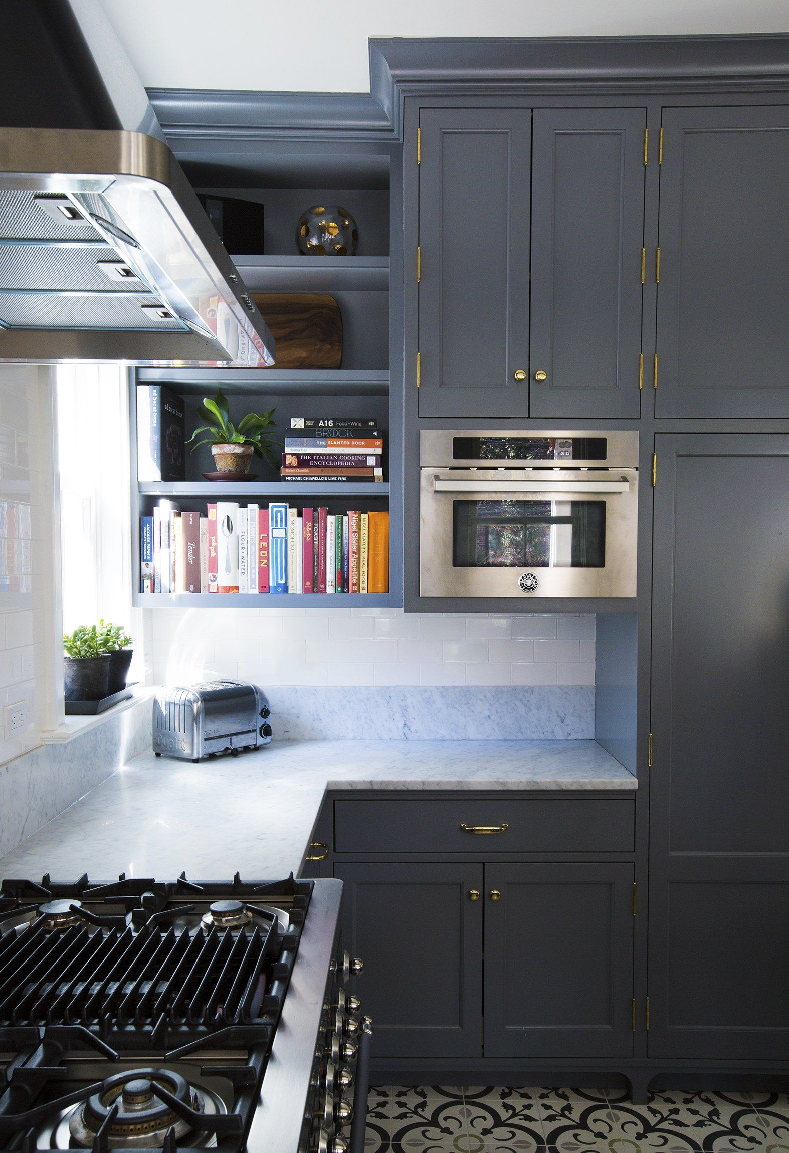 Contemporary Small Kitchen Bookcase Ensign - Kitchen Cabinets ...
