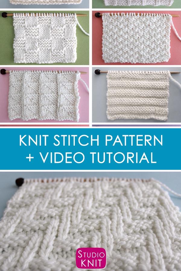 Photo of Diagonal Chevron Zigzag Knit Stitch Pattern