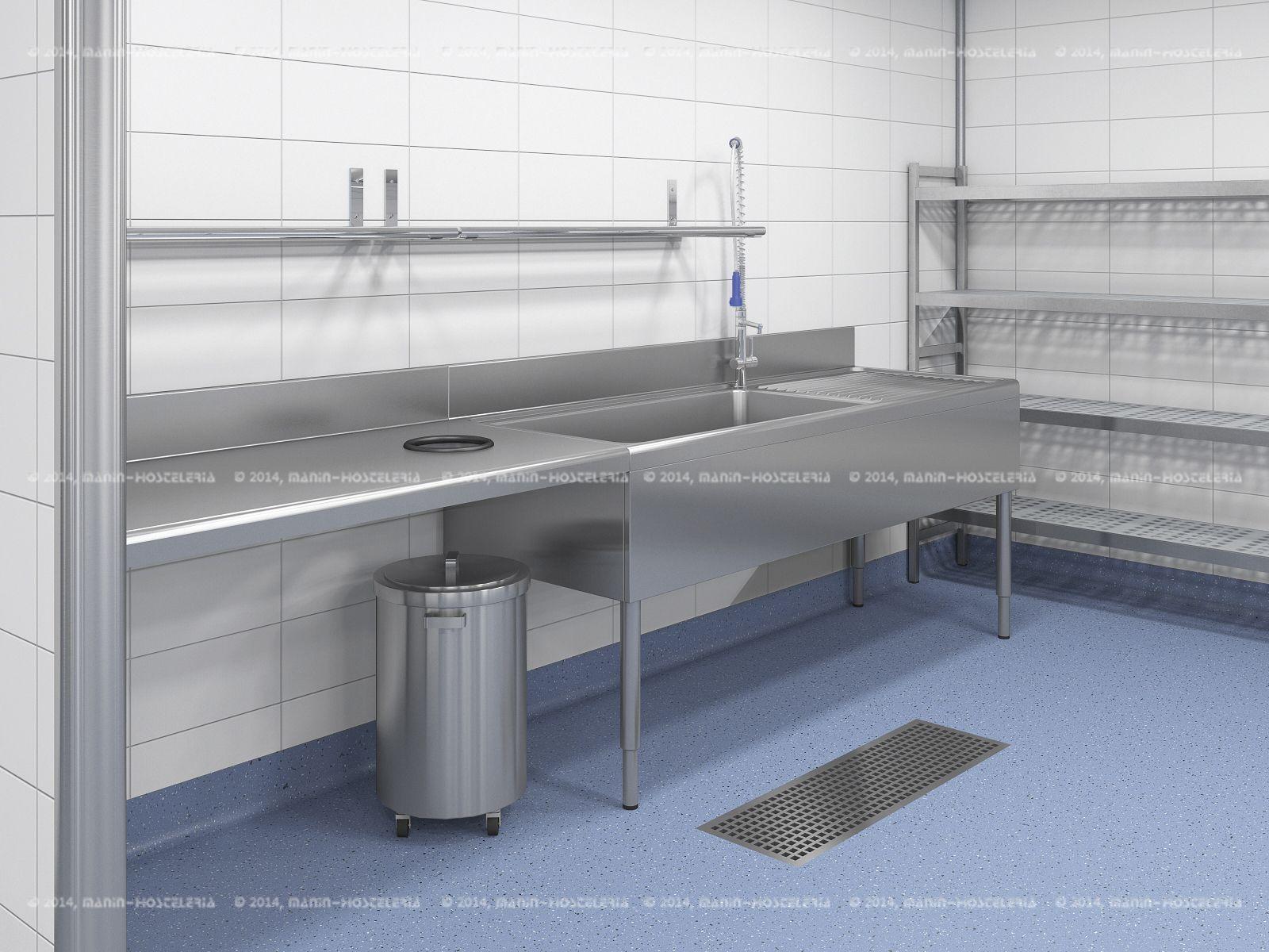 Dise o de cocina industrial en 3d y cad con rea for Cocinas industriale