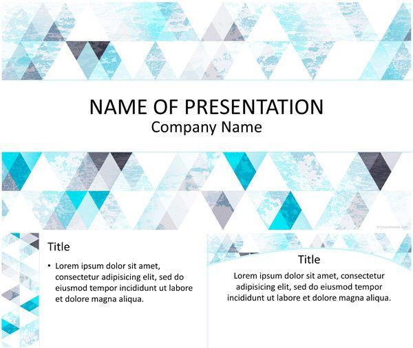 Blue triangle pattern powerpoint template templateswise blue triangle pattern powerpoint template templateswise toneelgroepblik Images