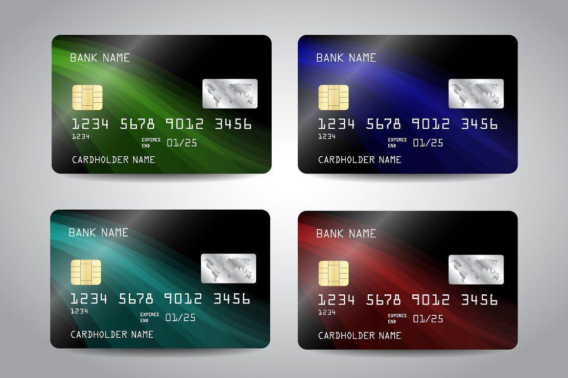 Credit card templates credit card design debit card