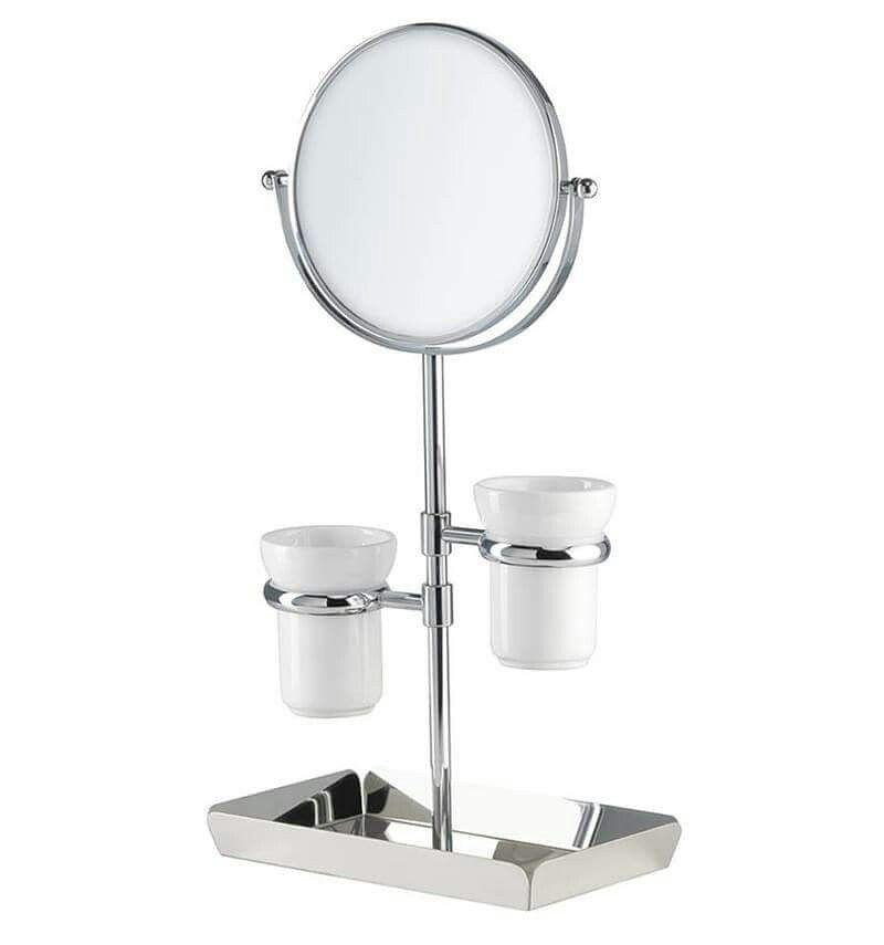 Novita 39 specchio ingranditore 3x bifacciale con porta make up by stilhaus arredo bagno ideale - Specchio ingranditore bagno ...