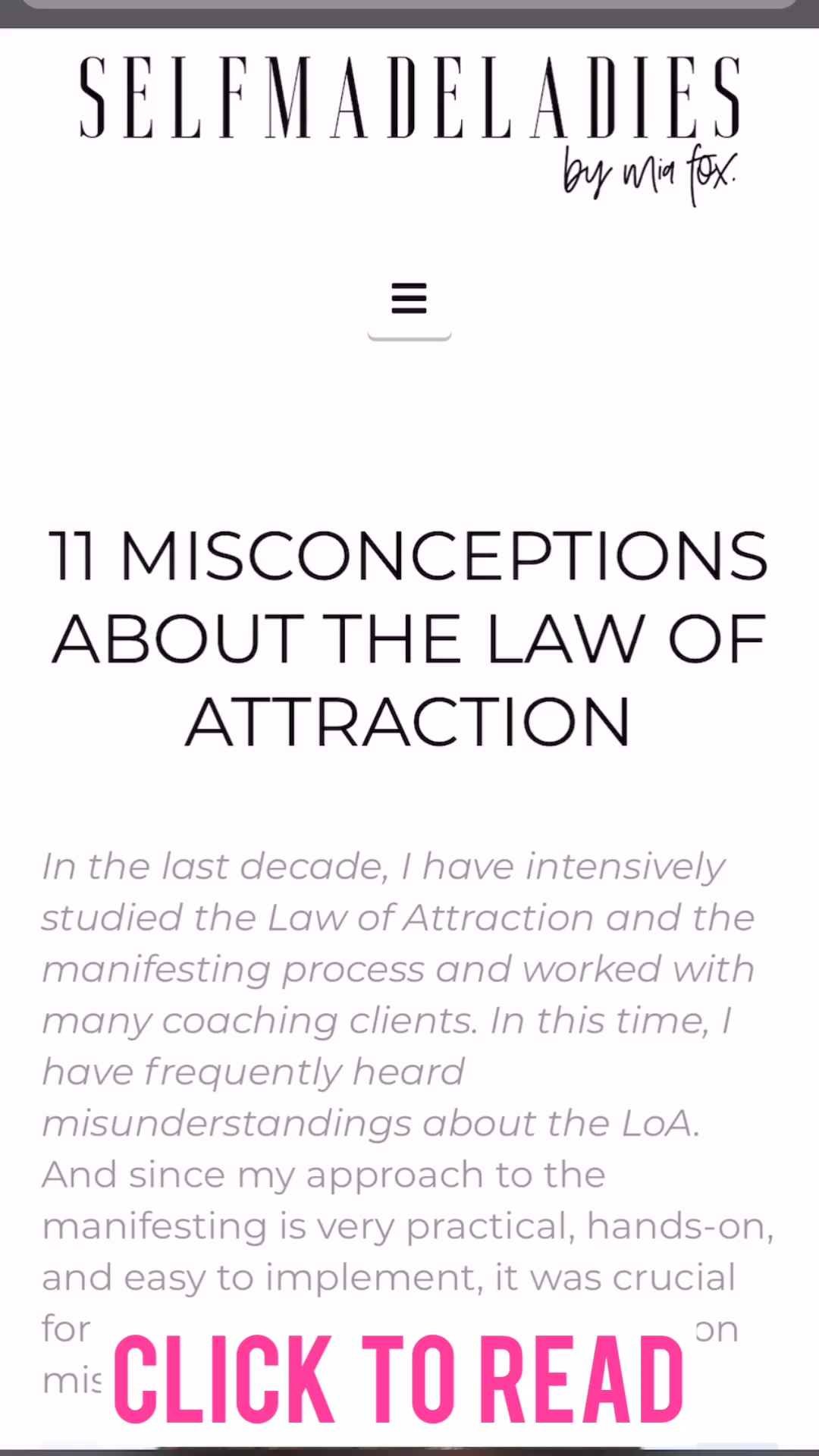 11 Misconceptions About the Law of Attraction - Busted! - Manifest The Life You Love - With Mia Fox