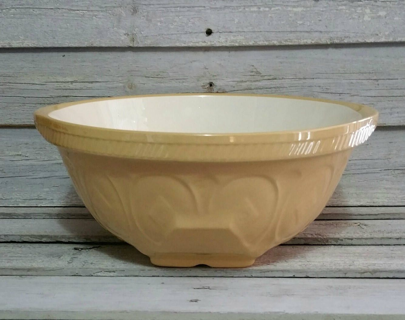 Vintage Large T G Green Stoneware Gripstand Mixing Bowl, Made In ...