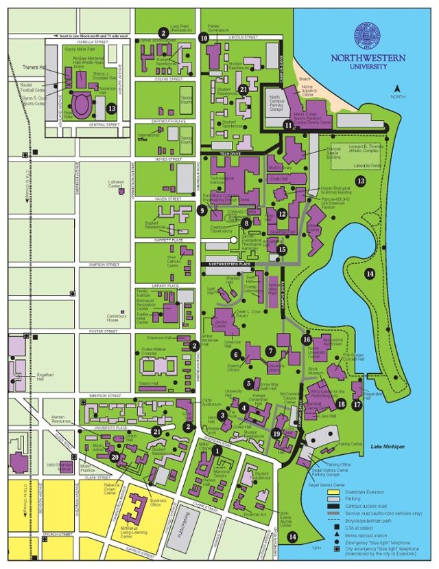 Northwestern University Evanston Campus Map.Best Study Spots At Northwestern University Graduate School