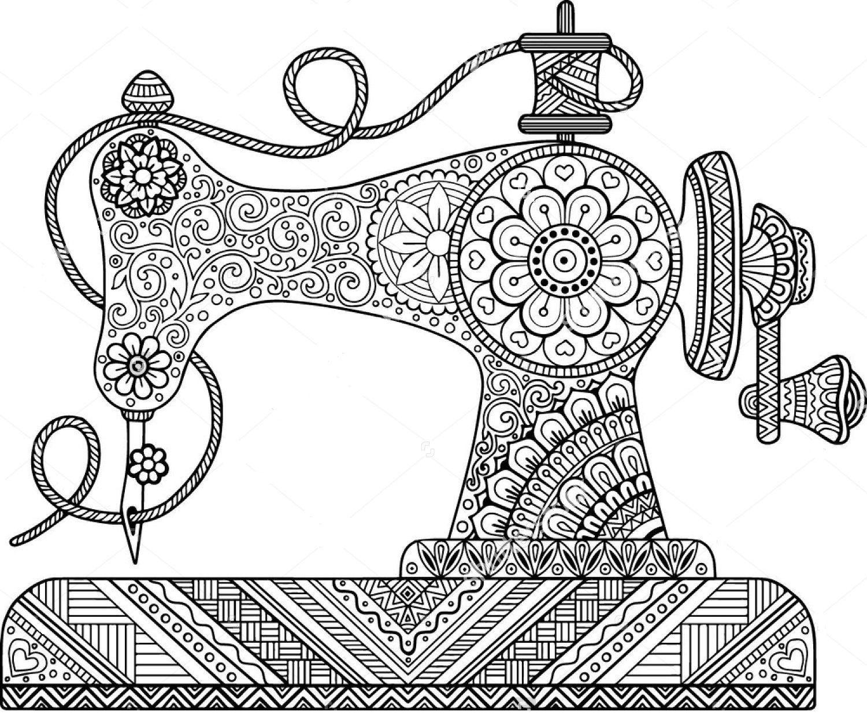 Sewing Machine Zentangle