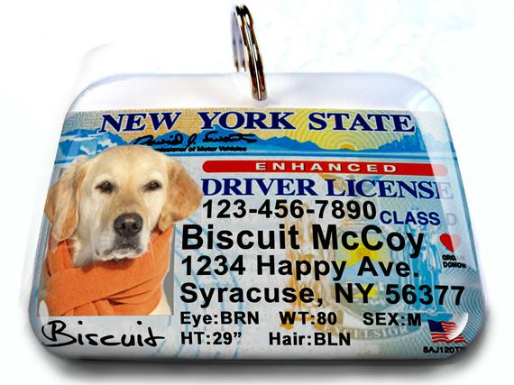 New York Driver License Personalized Custom Id Tags For Dogs And