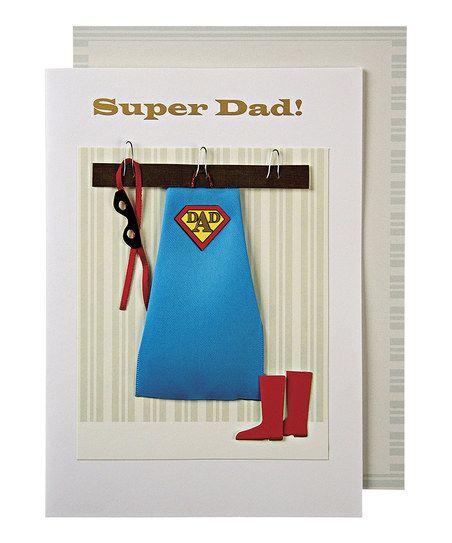 Super Dad Costume Birthday Card Envelope Stationery Cards