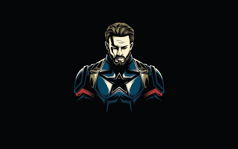Desktop Wallpaper First Avenger Captain America Minimalist Hd Image Picture Background Edf5b2 In 2020 Captain America Wallpaper Iron Man Art Marvel Wallpaper