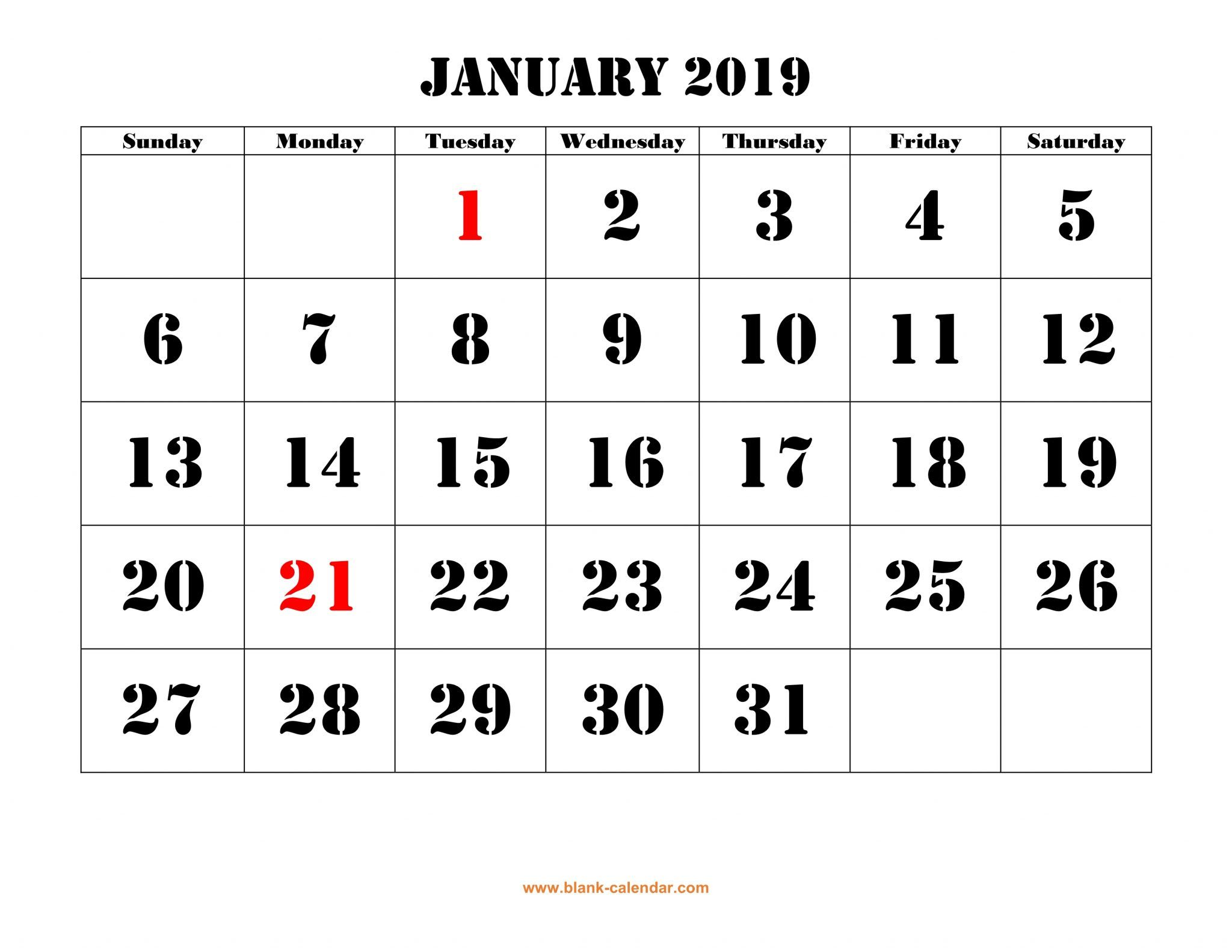 January Calendar Philippines
