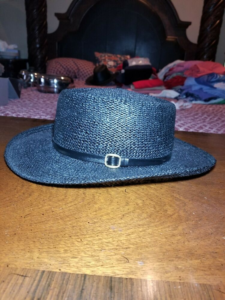cabe5e8df6a YoungAn Hat Co. Ltd One Size Fits Most Black Fidora  fashion  clothing