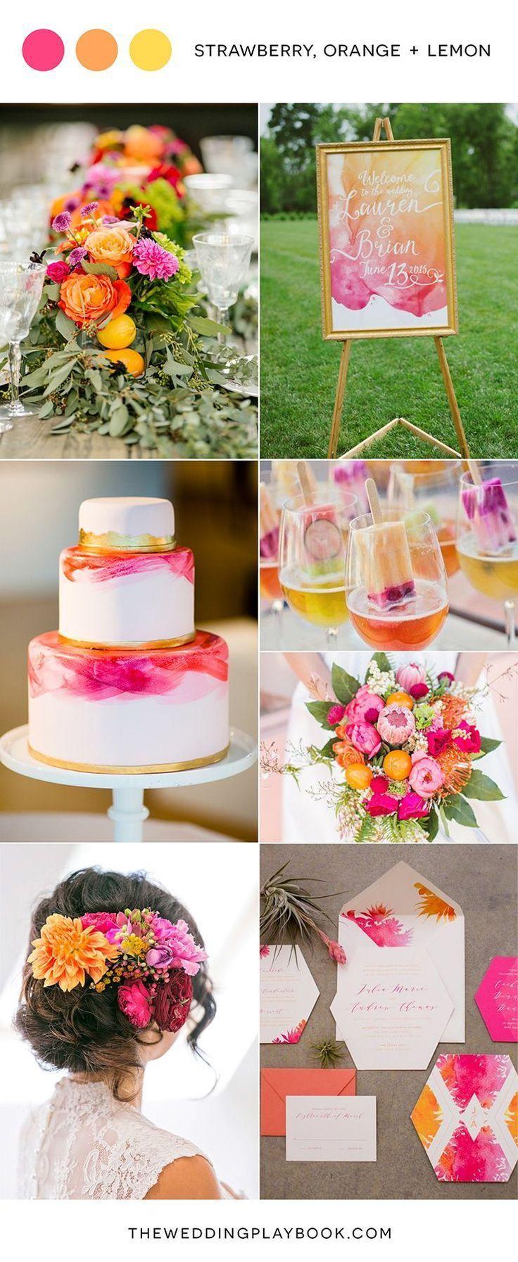 Leaving Facebook #moodboards Strawberry Orange and Lemon Marriage ceremony Inspiration #inspiration #lemon #orange
