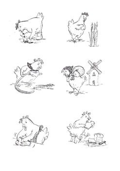 Little Red Hen Black And White Images Little Red Hen Red Hen Little Red Hen Activities