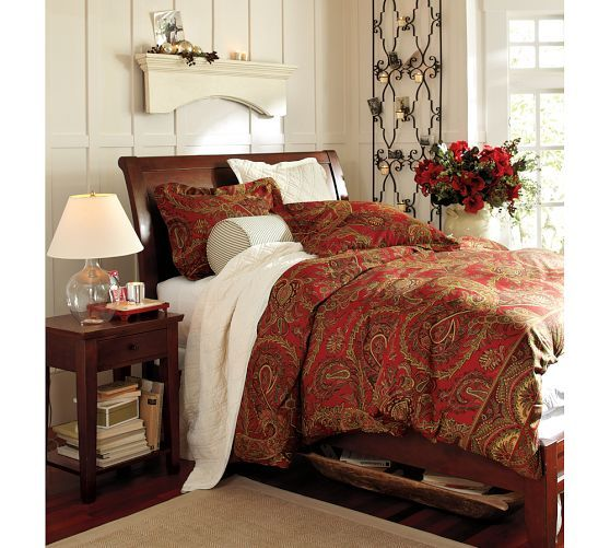 Caroline Paisley Duvet Cover Twin Red I Kind Of Love