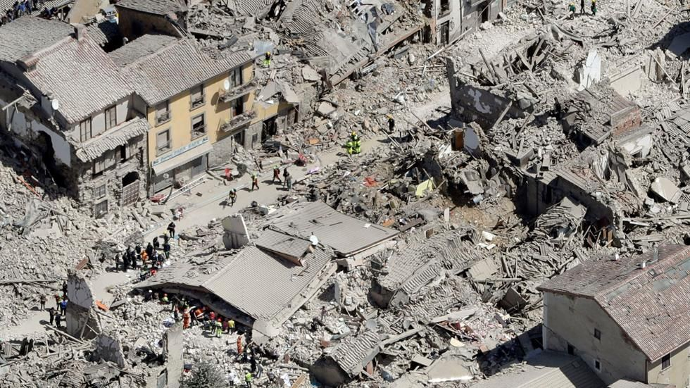 Photos Aerials Of Italy S Earthquake Damage National Geographic