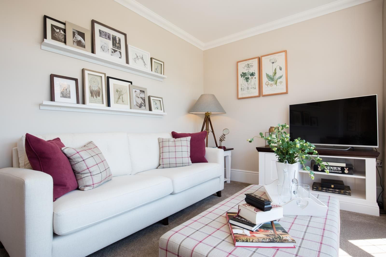 A Touch Of Colour Can Make All The Difference   Like This Subtle Raspberry  Accent Found In The Snug Of Our Balomoral Show Home At Woodford Village  Green ...