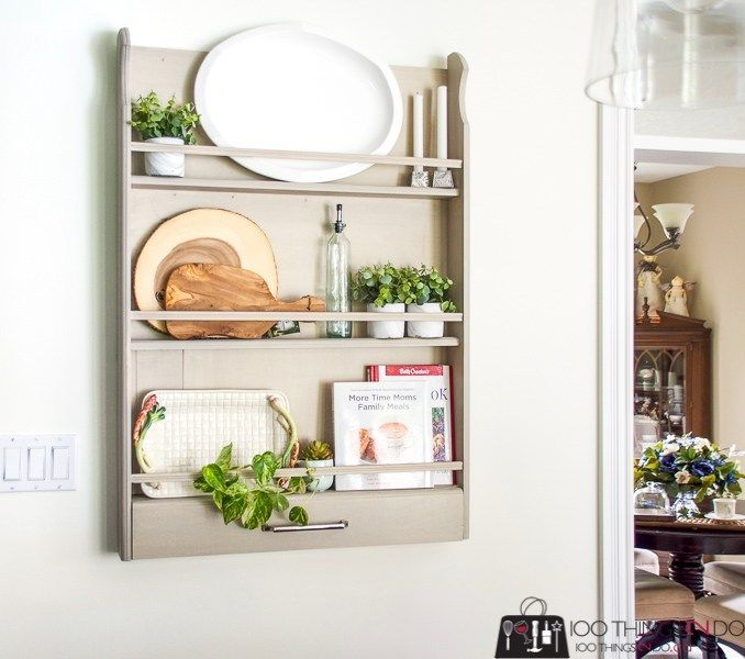 Wall-mounted plate rack | 100 Things 2 Do #plateracks