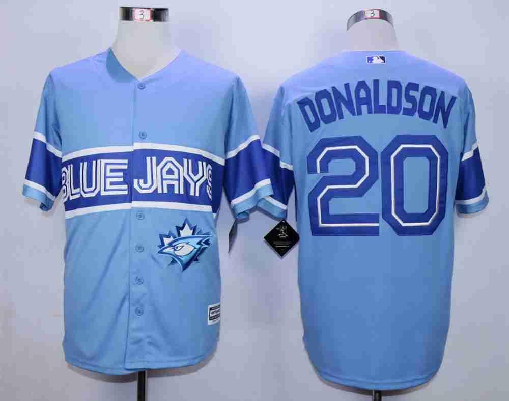 new concept 588aa 89753 Men's Toronto Blue Jays #20 Josh Donaldson Light Blue New ...