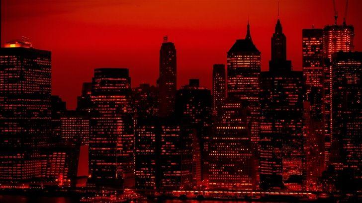 Red Sky At Night New York City Mac Wallpaper Download