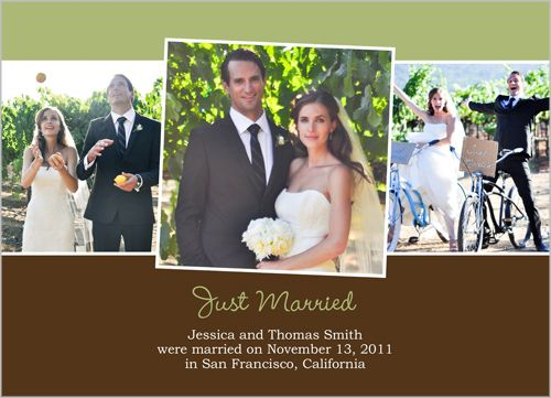Just Married Sage Wedding Announcement. www ...