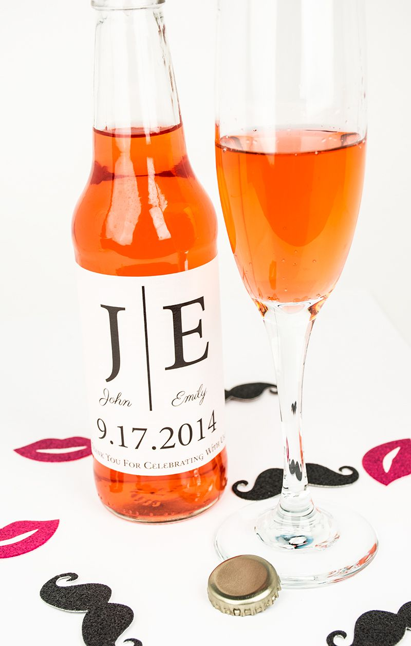 Create a custom soda wedding label as favors and refreshment for ...