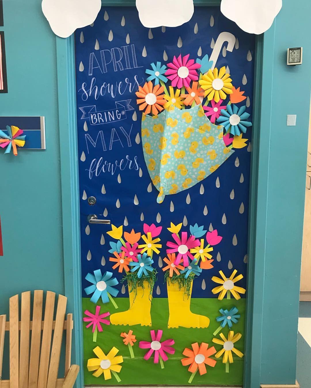 Spring Classroom Door Image By Audrey Baker Santos On Classroom