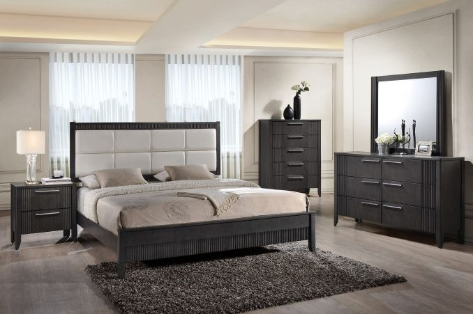 Contempo Grey Bed Bailey S Furniture With Images Queen