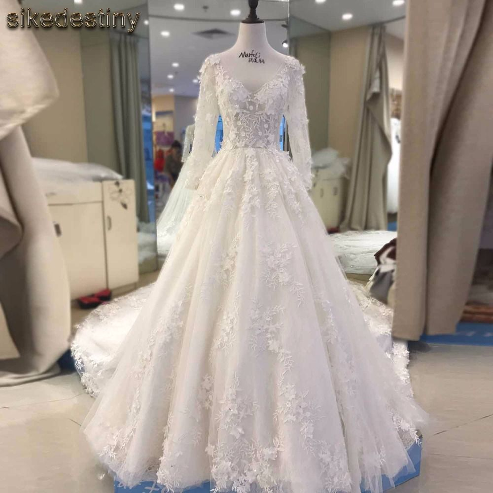 Champagne and ivory wedding dress  Sikedestiny High Quality New Fashion Lace Mermaid Champagne and