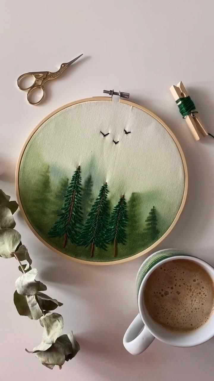 Photo of Watercolor embroidery