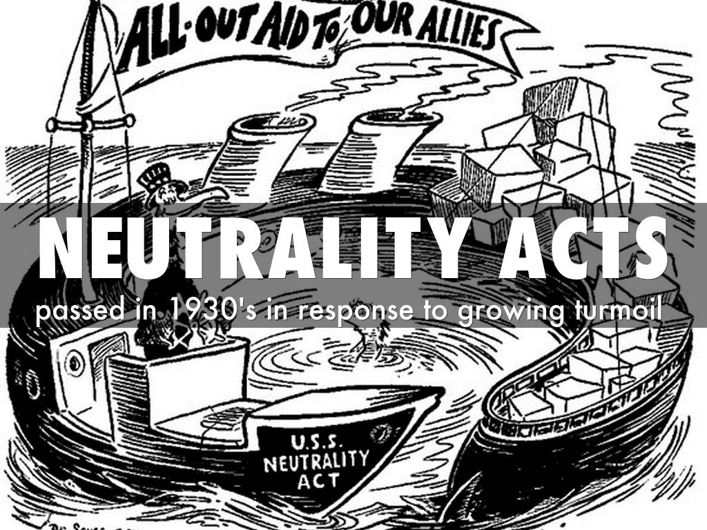 Image result for the neutrality acts