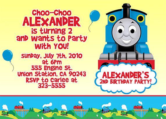 Thomas The Train Invitation Birthday Ideas Pinterest - birthday invitation flyer template