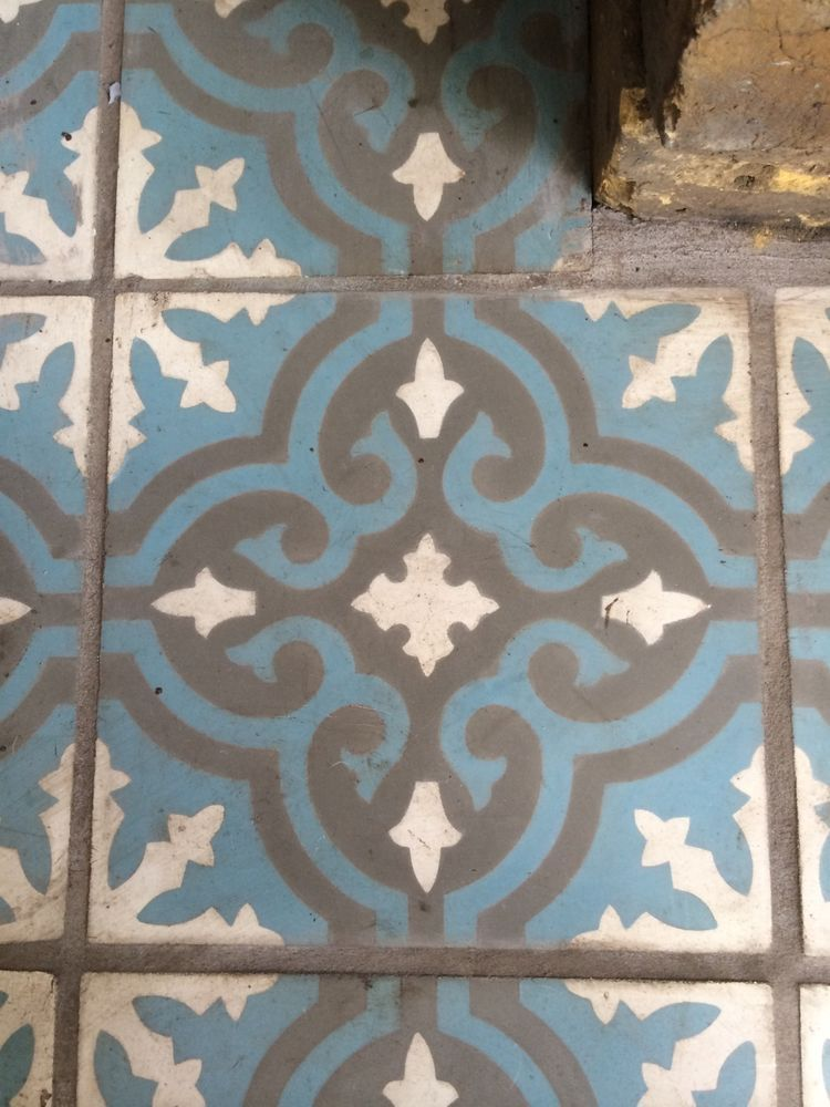 Fired Earth Tiles Toulouse Augustines Encaustic Hearth Tiles