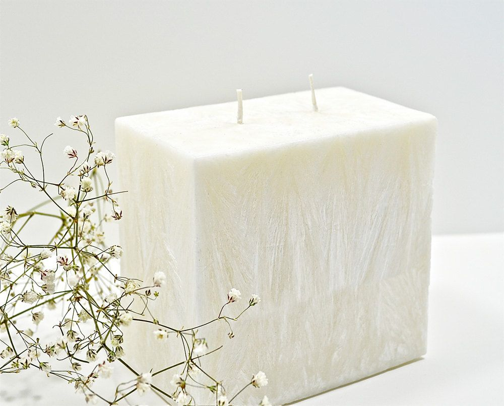 Modern Unity Candle. -- even wrap a colored ribbon around the candle.