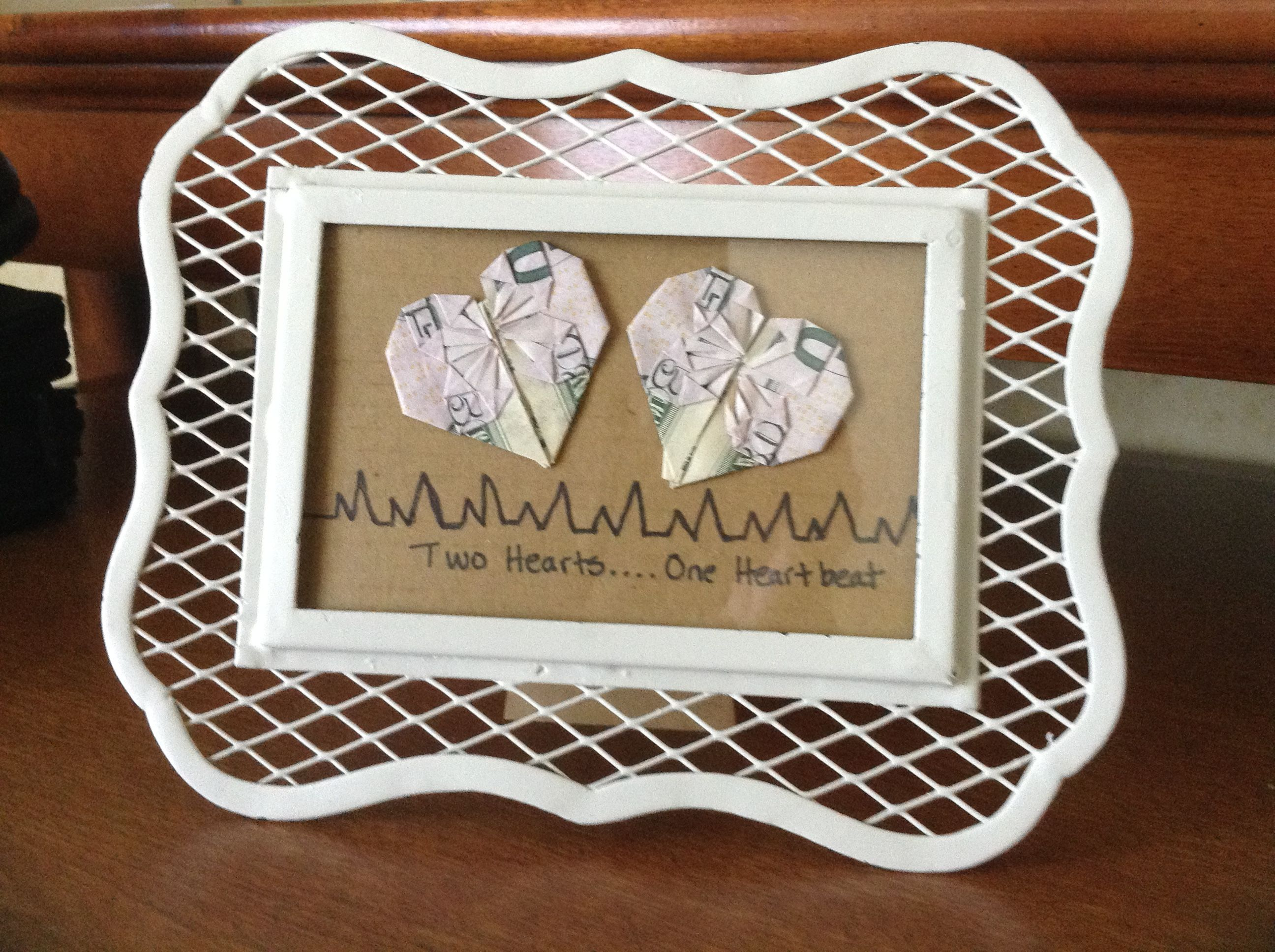 A last minute wedding gift. A great project to expand and