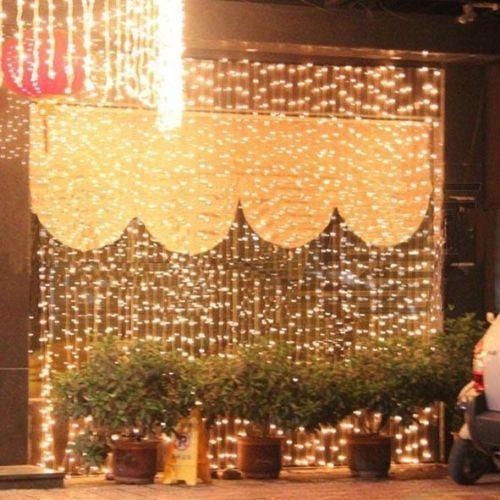 3MX3M 300LED Curtain Lights String Light Wedding Party Xmas Decor