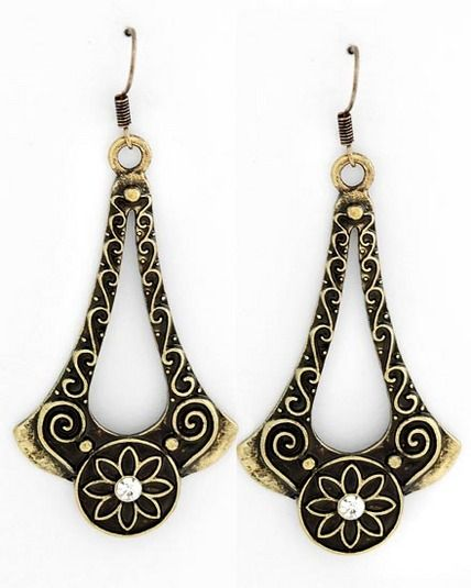 Deco style antiqued earrings $12.99 + Free Shipping