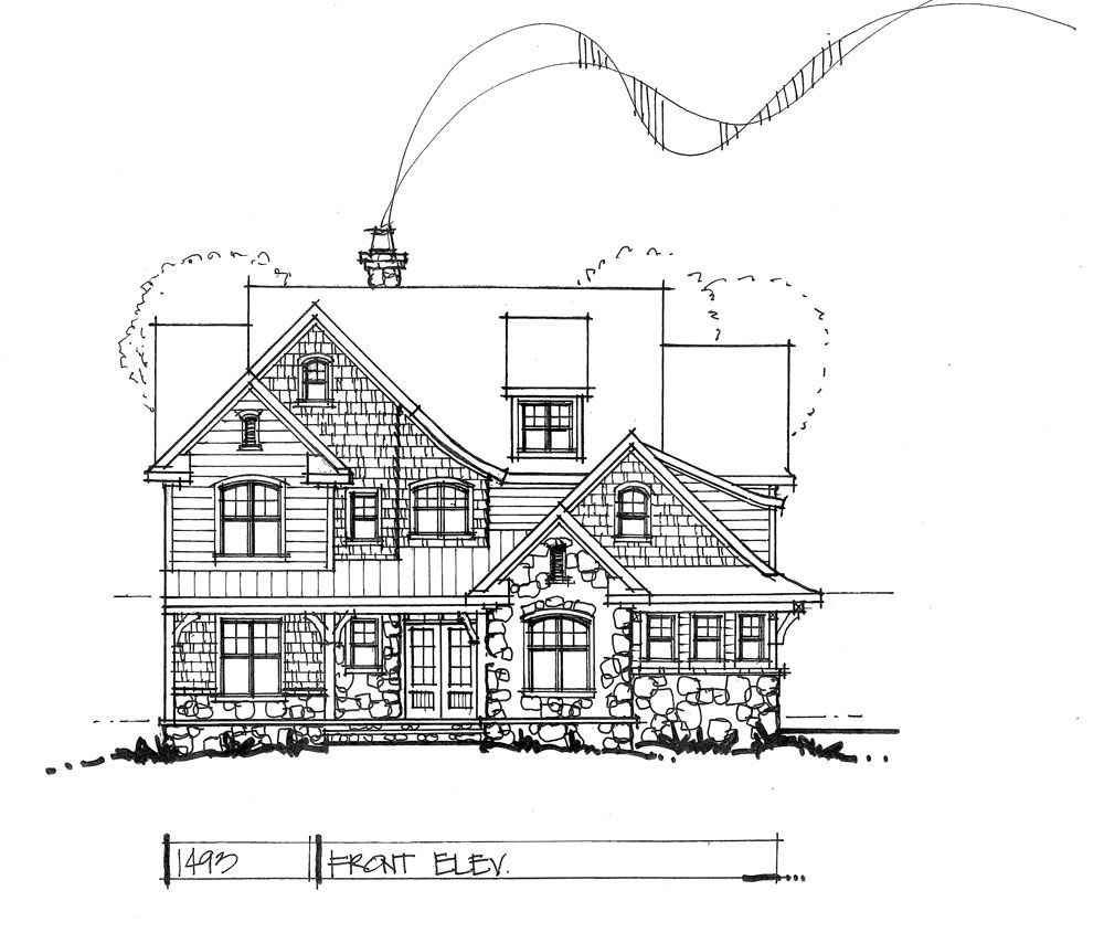 CONCEPTUAL HOUSE PLAN NARROW TWOSTORY House Bonus Rooms - How to check elevation