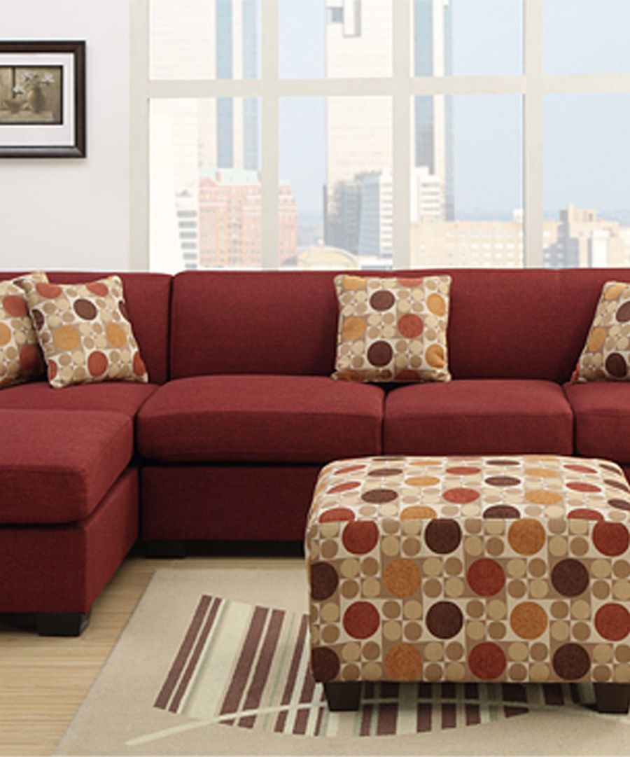 Look at this red farsund two piece sectional set on zulily today