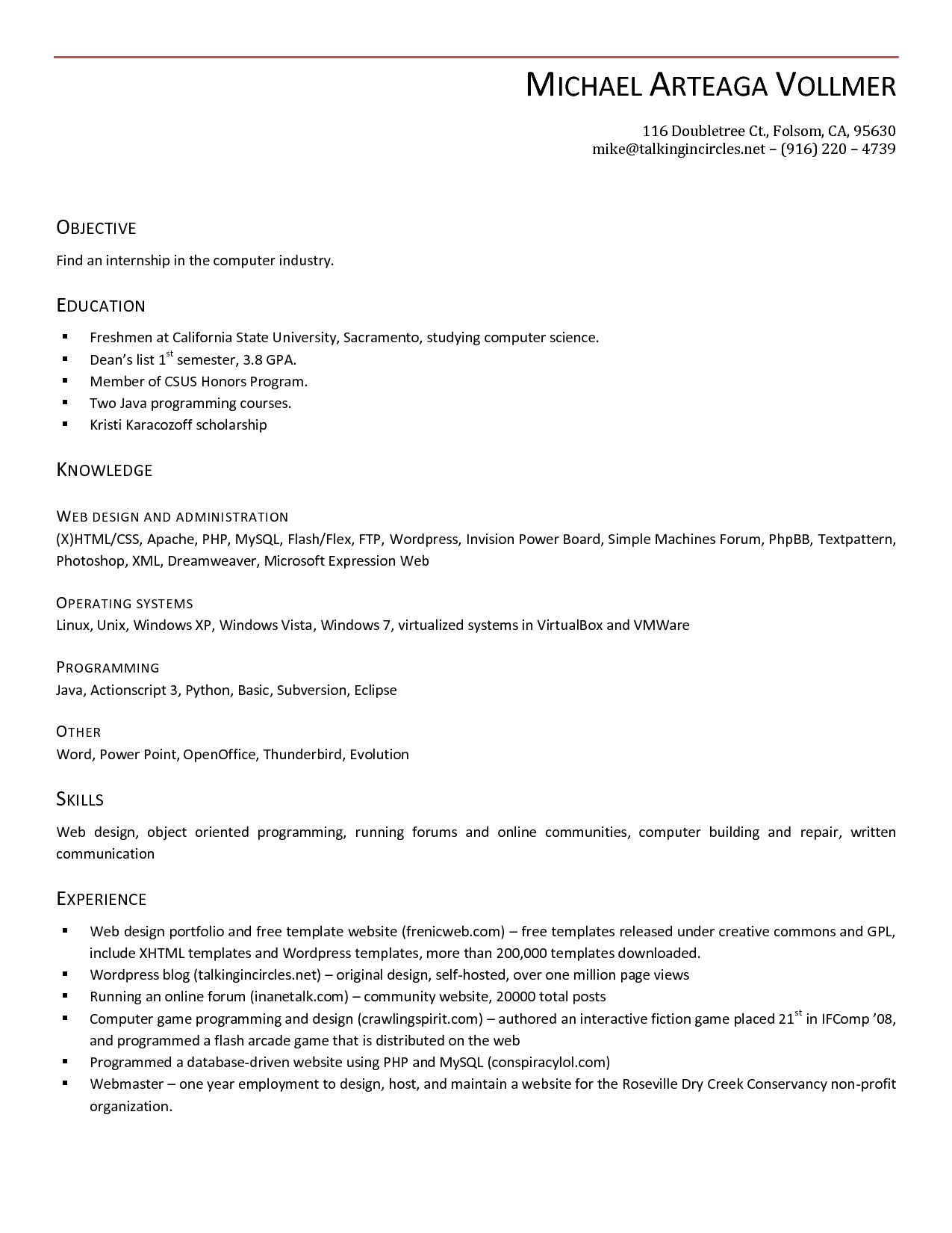 Resume Templates For Openoffice HDResume Templates Cover Letter ...