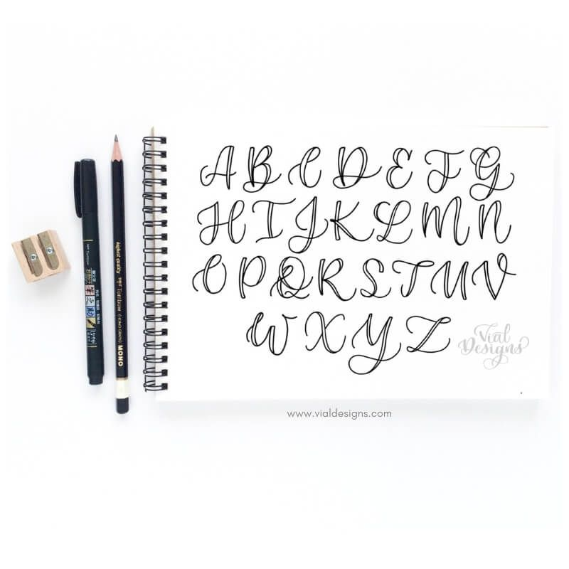 Learn How To Create Beautiful Uppercase Letters Faux Calligraphy Alphabet Hand Lettering Worksheet Hand Lettering Quotes