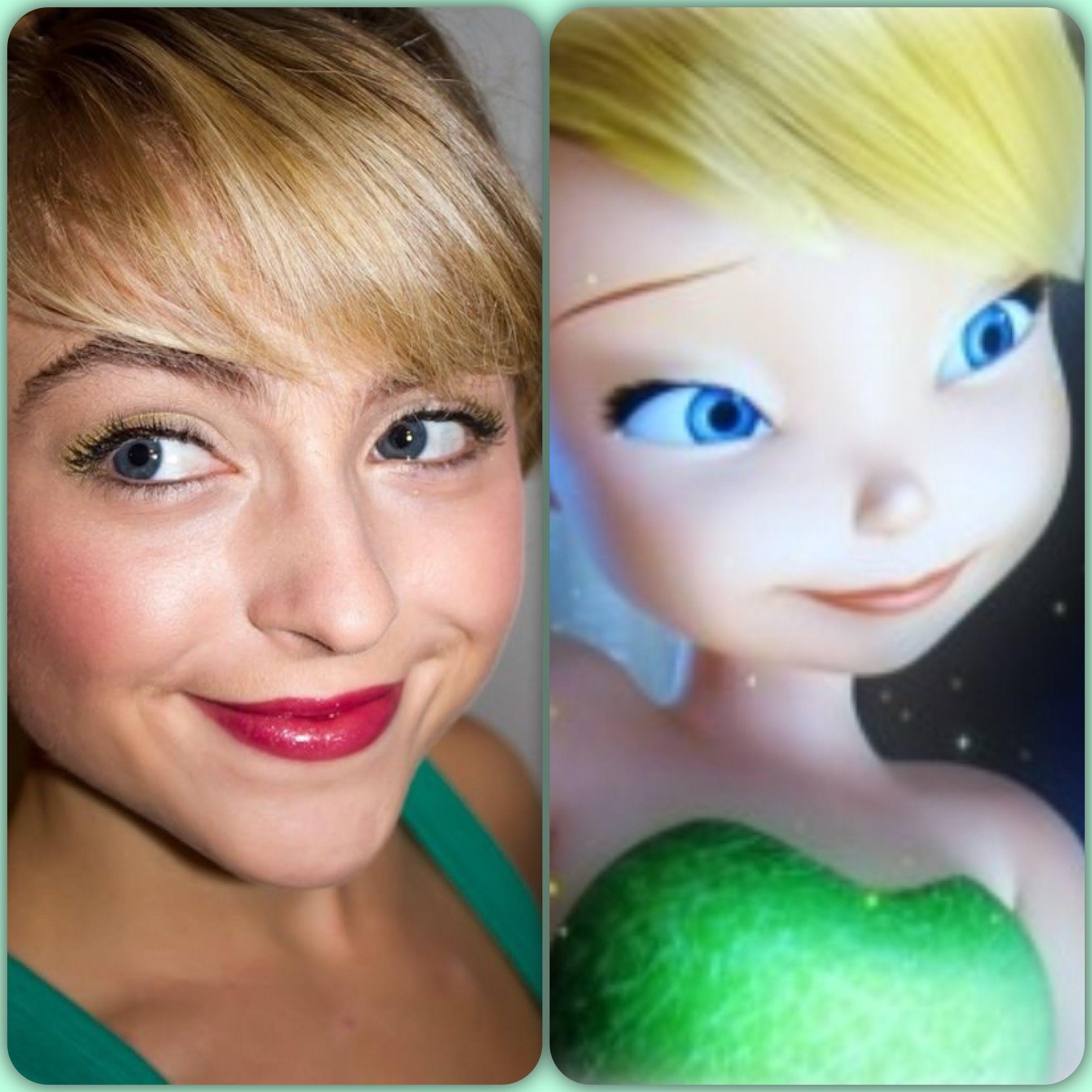 Tinker Bell Hair And Makeup Tutorial Tinker Bell Hair Makeup Tutorial Hair Makeup