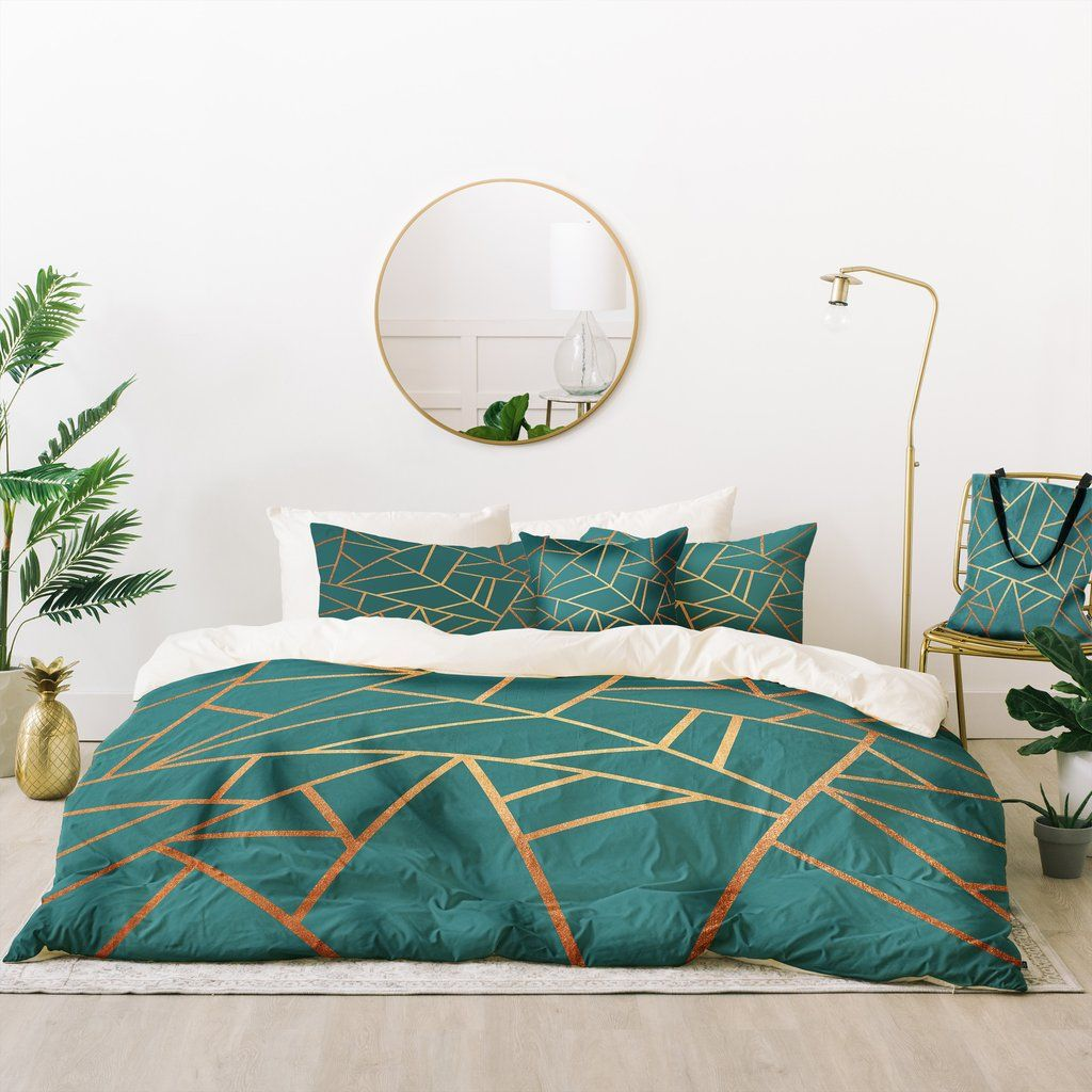 Copper And Teal Bed In A Bag Elisabeth Fredriksson Teal Bedding Gold Bed Teal And Copper Bedroom