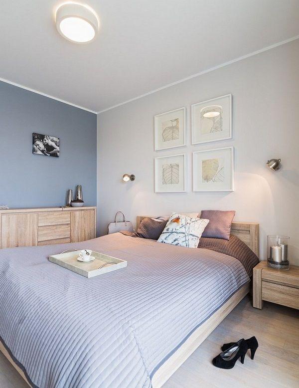 idées d\'aménagement mobilier de chambre bois clair o armoires ...