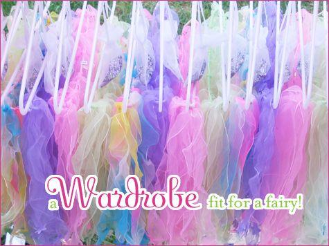 Wardrobe for a fairy birthday party