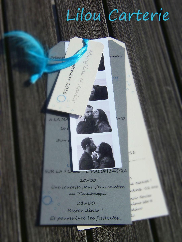 Top Faire part de mariage moderne avec planche style photomaton  UN58