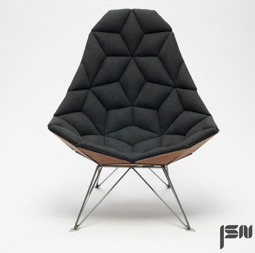 ariel chair - a lounge chair inspiredthe classic fixed bicycle