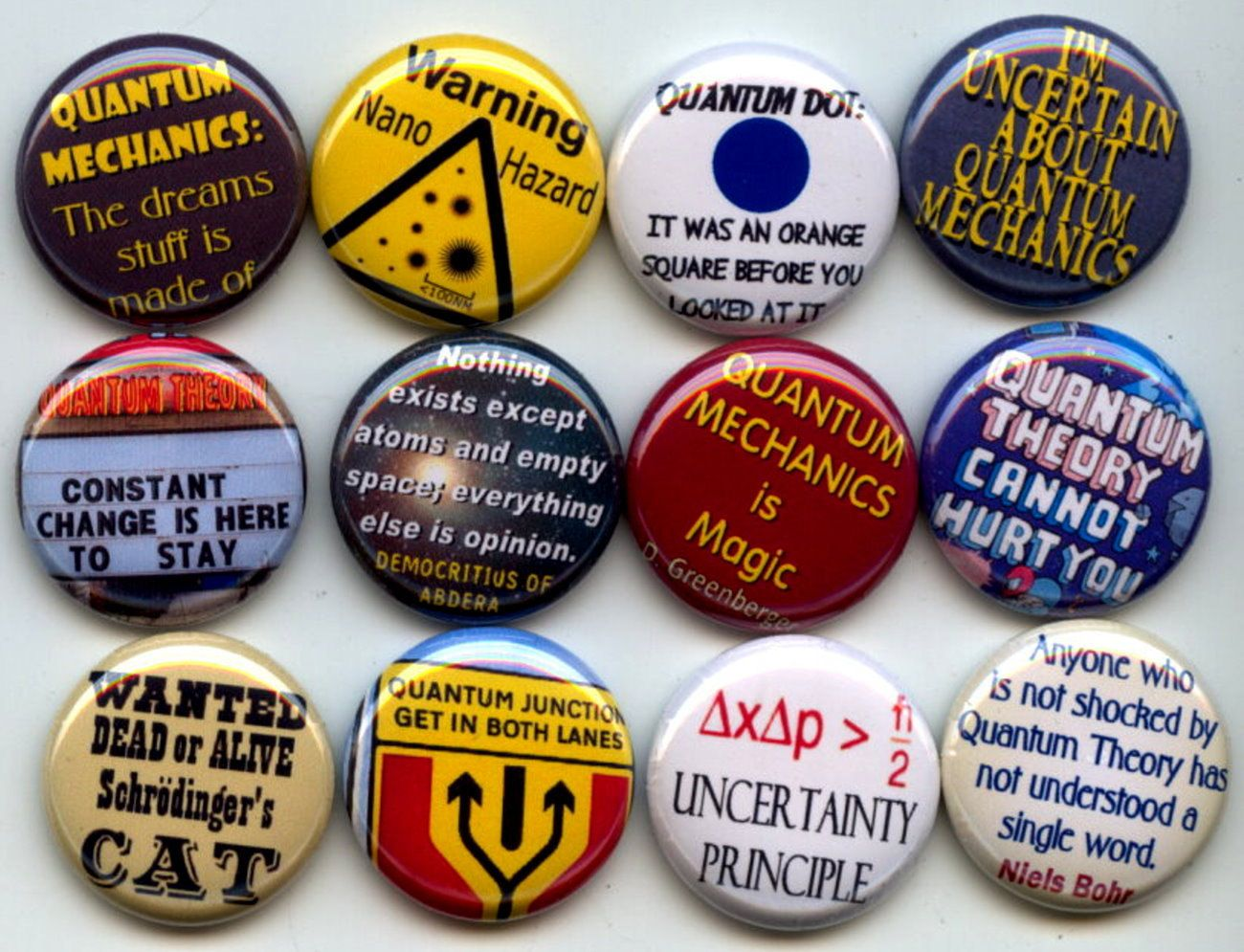 Quantum Mechanics Pins Need
