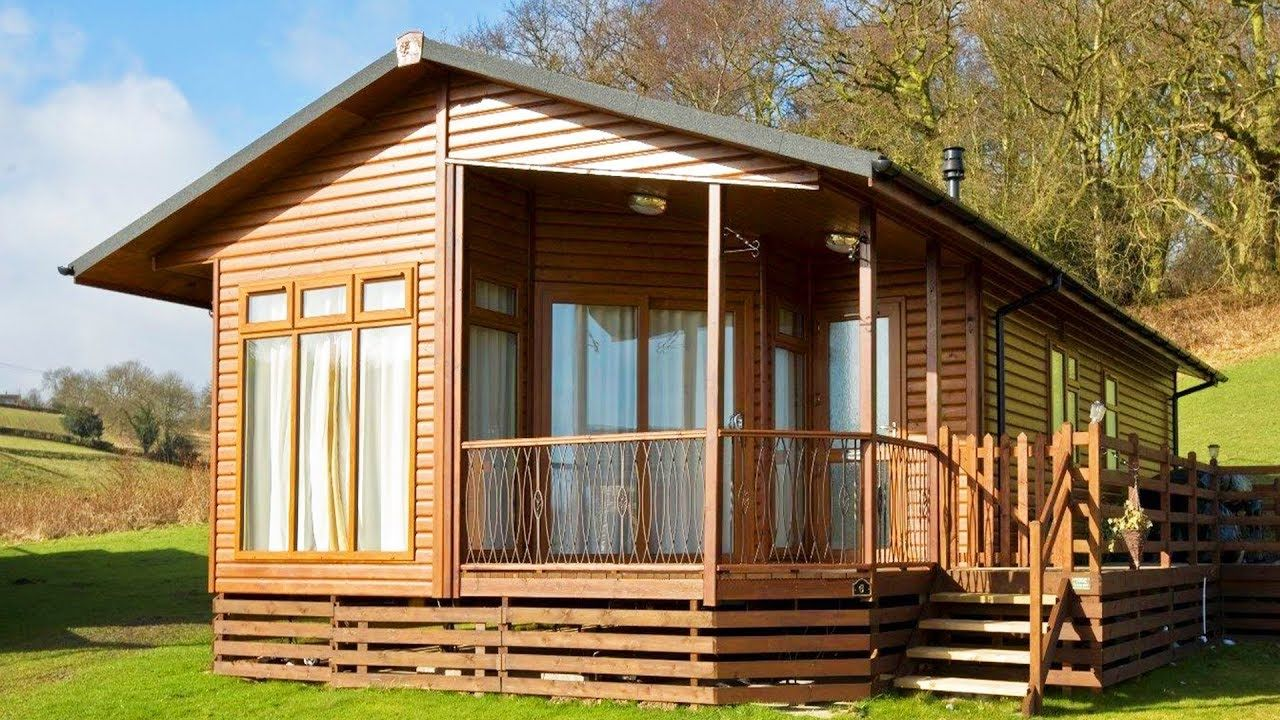 Fabulous Log Cabin Mobile Home Chalet 40 X 20 X 2 Bed For Sale Log Cabin Mobile Homes Beautiful Small Homes Tiny House Big Living