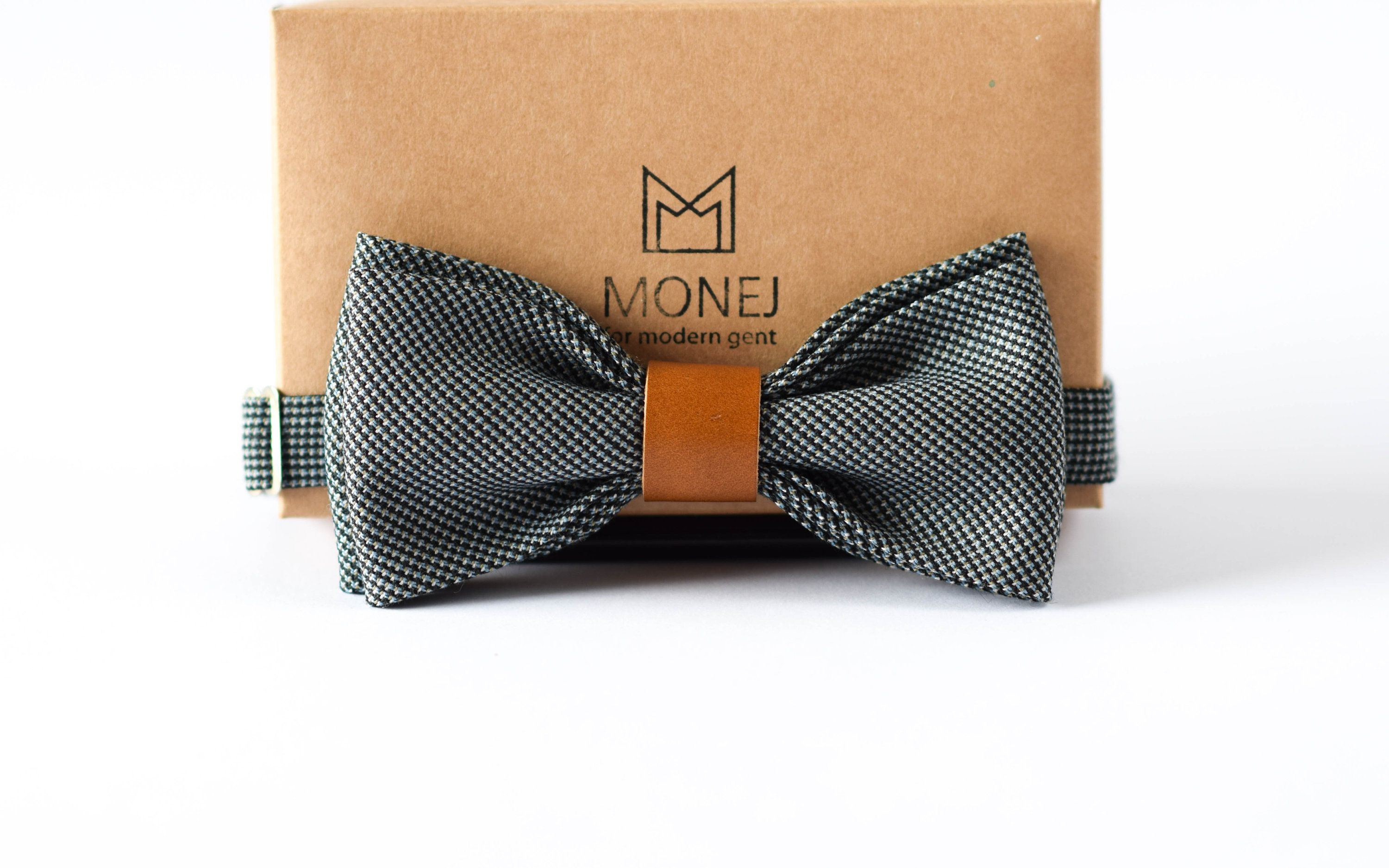 Blue Gray Bow Tie For Boy Kid Leather Boho Bow Tie Gift For Boy Blue Bow Tie Men Mens Bow Ties Unique Bow Tie