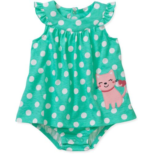 a5cfbf0a6 Child of Mine by Carters Newborn Girl Dress and Bloomers Set: Baby Clothing  : Walmart.com